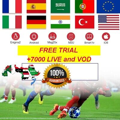 1 MONTH IPTV Subscription 7000 channels HD + VOD, Android, SmartTV, MAG M3U