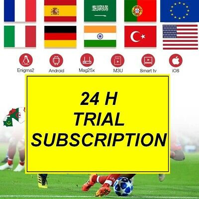 24 H trial IPTV Subscription 7000 channels + VOD MAG, Android, SmartTV, M3U