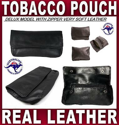 Best Tobacco Pouch Deluxe Nappa Soft Leather Smoke Cigarette Case Roller  Paper