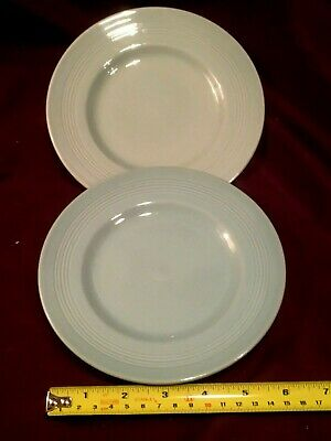 Two Vintage Woods Beryl Ware Green Utility Side plates 6.75 inches