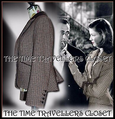 NEXT Tweed Heritage 30s 40s 50s Vintage Riding Jacket Victorian Bustle UK 10 6