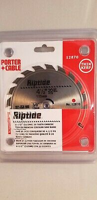 Porter Cable 4-1//2 INCH 20 TOOTH ATB GENERAL PURPOSE #12870 CIRCULAR SAW BLADE