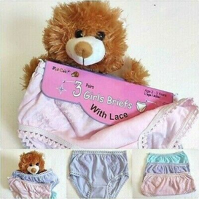 3,6, 12 Pack Children Girls Viscose Pants Cute  Briefs Knickers Kids Underwear
