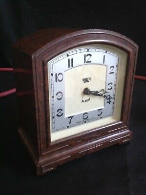 Original Art Deco Smith Bakelite Electric Alarm Clock Tested & Working