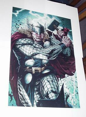 Thor Poster #42 Fury of the God of Thunder by Patrick Zircher