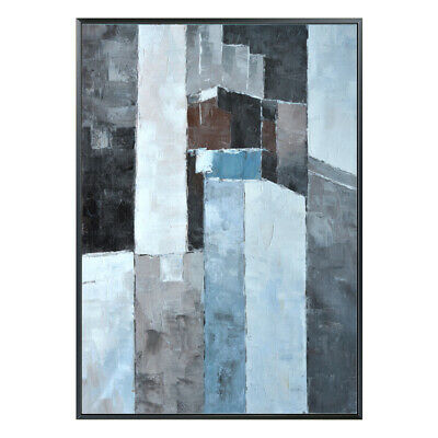 """YA124 Hand-painted oil painting Abstract Color block Canvas Unframed 24""""x36"""""""
