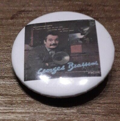 Badge 32mm brassens 4