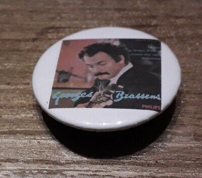 Badge 32mm brassens 5