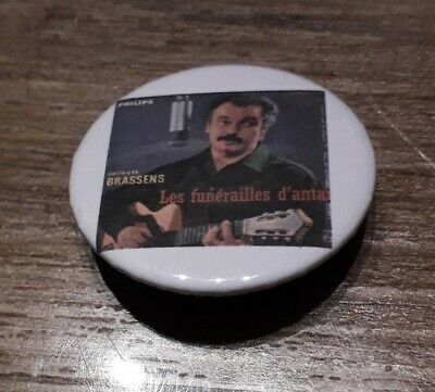 Badge 32mm brassens 6