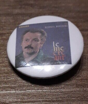 Badge 32mm brassens 7