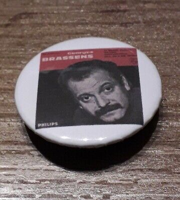 Badge 32mm brassens 8
