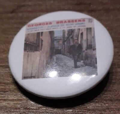 Badge 32mm brassens 9