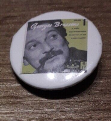 Badge 32mm brassens 10