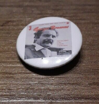 Badge 32mm brassens 11