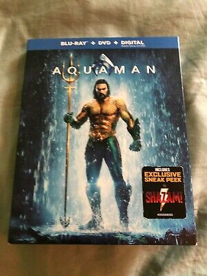 Aquaman (Blu-ray, DVD, Digital 2019) New with Slipcover