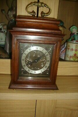 Rare Vintage ROTHERHAMS WOODEN CASE BRACKET 8 DAY MANTEL CLOCK