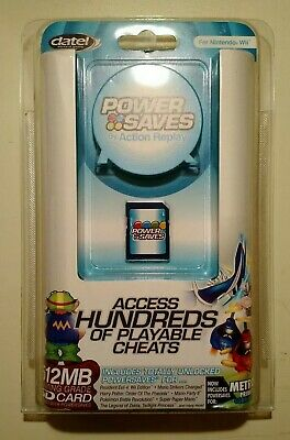 New Sealed Datel Nintendo Wii Action Replay Power Saves Game Cheat Codes DUS0230