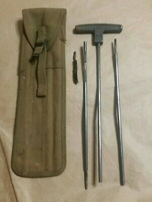 Wwii Mi-C6573A Army Green Cleaning Rod Case W/ Rods & Wire Brush - Stein Bros.