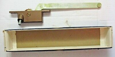 "Vintage Henne US Casement Window Operator # 50 Right Hand 9"" Arm Bronze No Crank"