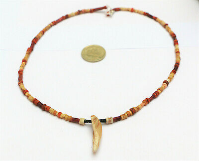 Pre Columbian BEADS Necklace shell Spondylus antique moche