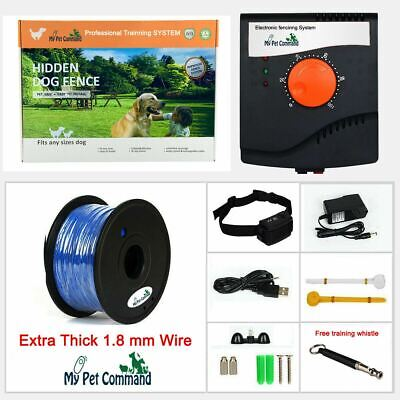 Electric Dog Fence Hidden Waterproof Rechargeable Pet Containment Kit Add Dogs