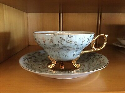 Vintage Antique Teacup And Saucer Fine China - Made In Japan