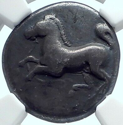 MARONEIA THRACE Genuine Ancient 386BC Silver Greek Stater Coin HORSE NGC i77993