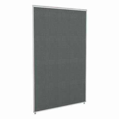 Partition Screen 750 x 1250 White Frame Grey Fabric