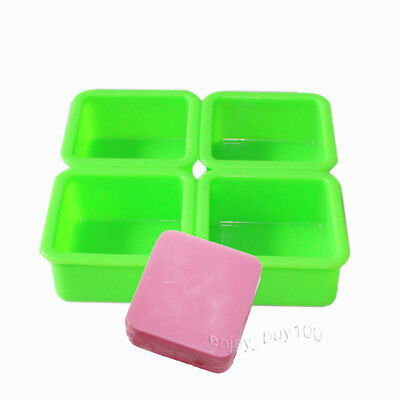 Square Plain Lotion Soap Bar Mold Silicone Making for Homemade