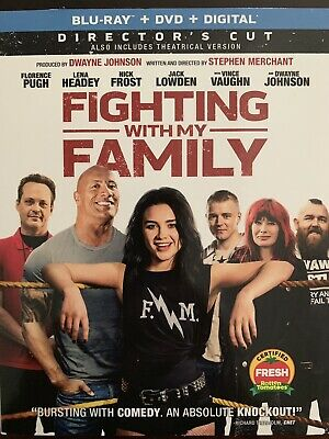 Fighting With My Family(Blu-Ray+Dvd+Digital)W/Slipcover New Free Shipping