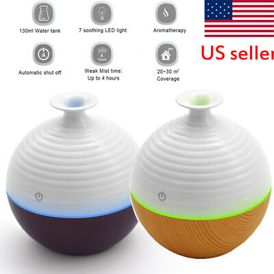 Purifier USB LED Ultrasonic Aroma Humidifier Essential Oil Diffuser Aromatherapy