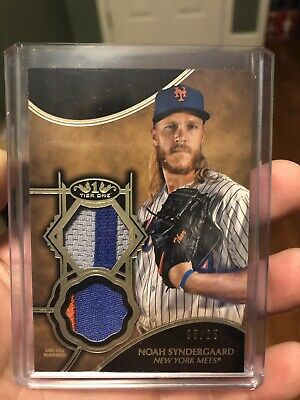 2019 Topps Tier One Noah Syndergaard Dual Patch # 05/25
