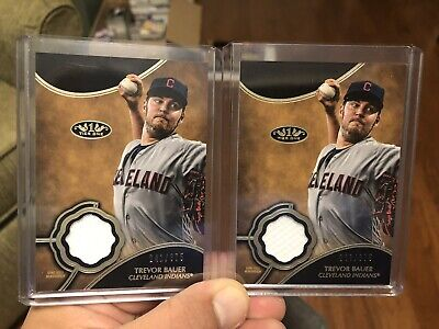 2019 Topps Tier One One Trevor Bauer 2 Card Jersey Lot # /375