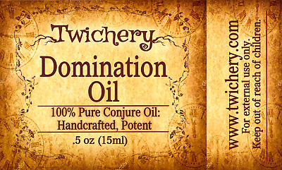 DOMINATION OIL, Commitment, Occult, Enchant, Hoodoo, Voodo Pagan,Wicca, Conjure