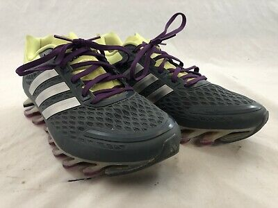 watch d7391 9f5b6 Adidas SpringBlade Running Shoe Dark Gray Purple Yellow G97688 Size 9