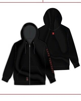 BTS world tour love yourself Zip-up Hoodie L size official good MD 2018 Hoody