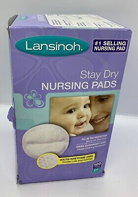 Lansinoh Disposable Nursing Pads of Quilted Honeycomb Lining - 100 Pieces