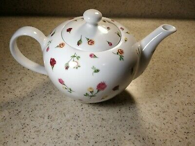 Teapot & Lid Country Rose Buds by Royal Albert England Floral Pink Yellow