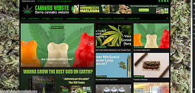 Cannabis News / Affiliate product website,100% automated -Premium designed-