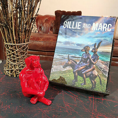 GILLIE AND MARC. Direct from artists. Authentic resin sculpture Mini Dog Red