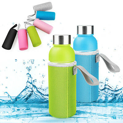 Sport Water Bottle Cover Neoprene Insulator Sleeve Bag Case Pouch With Strap