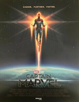 "2019 Captain Marvel AMC IMAX Exclusive 8.5"" x 11"" Mini Poster"