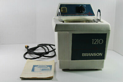 Bransonic Branson 1210R-MTH Ultrasonic Cleaner w/ Instructions, Lid, and Basket