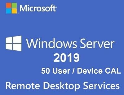 Remote Desktop Services (RDS) for Server 2019 Standard - 50 User CALs