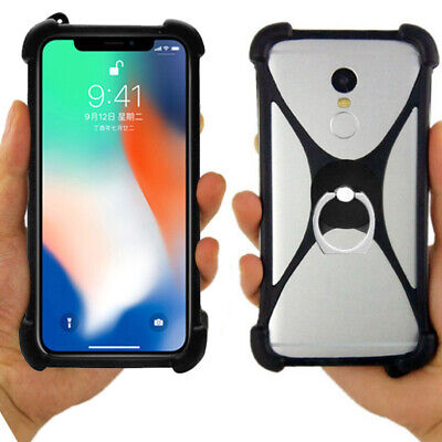 For Blackview/Elephone - Soft Silicone Ring Holder Stand Shell Case Cover Bumper