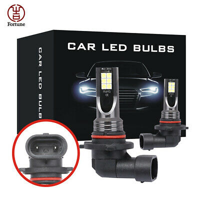 2Pcs 9005 HB3 CSP LED Headlight Kit White Fog Light Globe Bulbs 24000LM 6000K