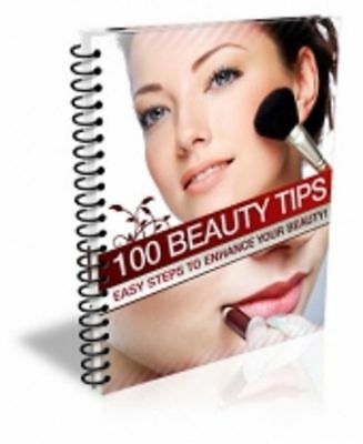 100 BEAUTY TIPS eBOOK PDF WITH MASTER RESELL RIGHTS FREE SHIPPING