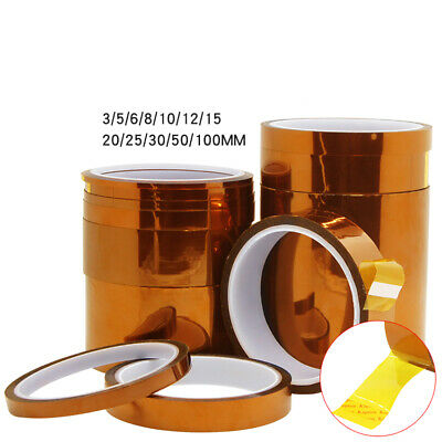 3~100mm Width 33M Kapton Tape Polyimide Adhesive Tape 0.05mm Thick Insulation