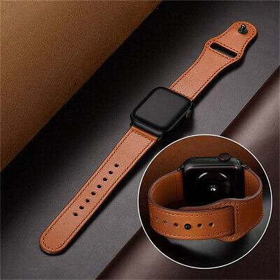 Genuine Leather Apple Watch Band Strap for iWatch Series 4 3 2 1 38/42mm 40/44mm
