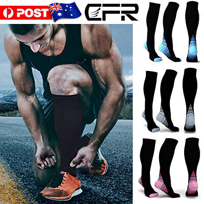 Unisex Compression Socks Copper Medical Stockings Travel Running Anti Fatigue